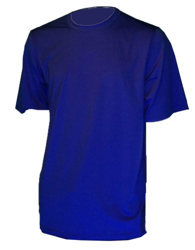 """""""Fits Like a Tee Shirt"""" Relaxed Loose Fit Rash Guard -Crafted in the USA (4X-LARGE, ROYAL BLUE)"""