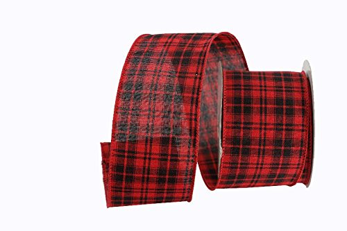 Renaissance 2000 18584 2.5 Red/Black Plaid Ribbon