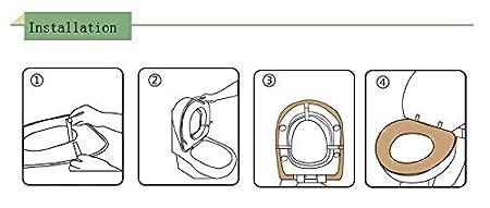 /1PCS Staccabile pi/ù Spessa Morbido Sedile Pads Warmer Cuscino WC Blue 43 * 37cm Elasticizzato VASANA Copri Water/ PU