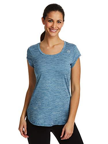 Reebok Women's Legend Performance Top Short Sleeve T-Shirt - Dark Blue Heather, Large - Matters Maternity T-shirt