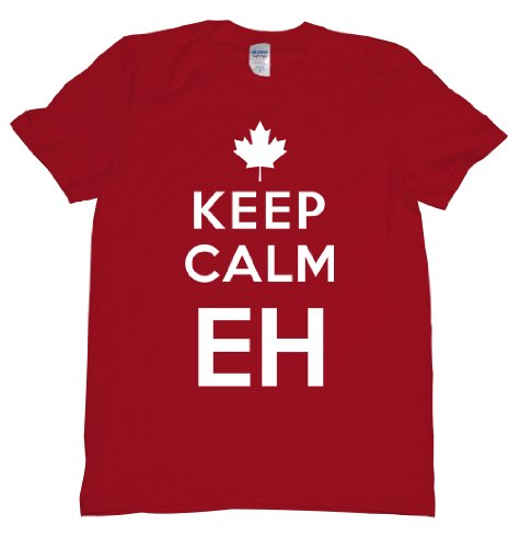 Keep Calm Eh Canada Maple Leaf Mounties Uniform Tee for sale  Delivered anywhere in USA