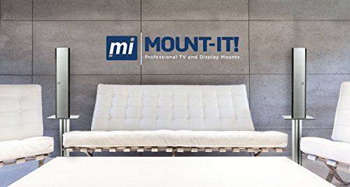 Mount-It! Stands Theaters, 18 22 Lbs Tempered Glass Aluminum,