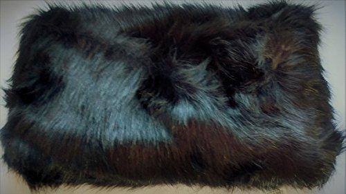 Merona, Women's Faux Fur Snood Infinity Scarf, Black