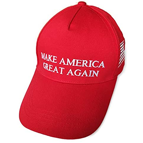 - 414CbCp XkL - Engmoo Make America Great Again Hat Trump Hat with Real Star USA Flag Embroidery Cap Adjustable Baseball Cap
