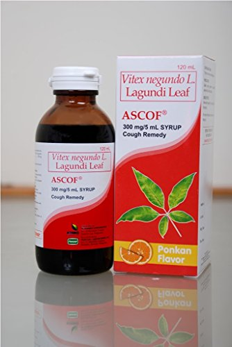 2 Ascof Lagundi Leaf Syrup Cough Remedy (2x120ml)
