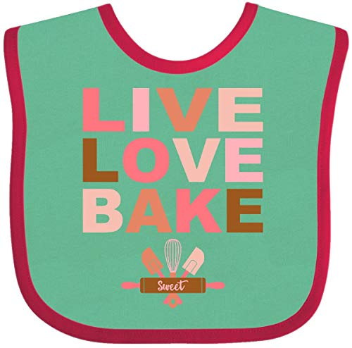 Green Whisk Cook (Inktastic - Live Love Bake Baby Bib Green and Red 25dc0)