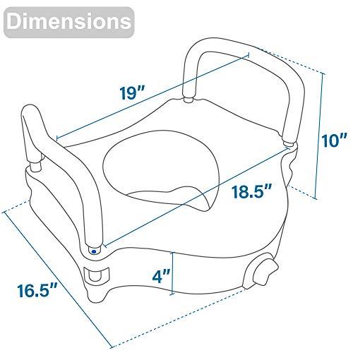 Vaunn Medical Elevated Raised Toilet Seat Amp Commode