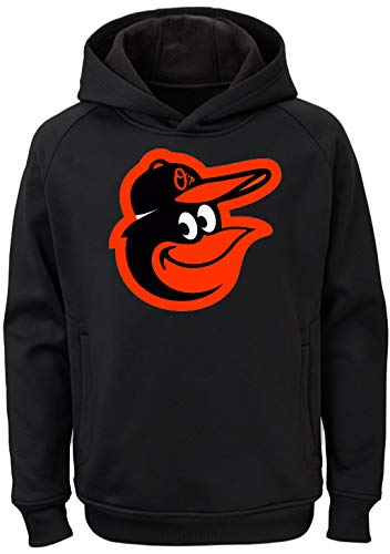 Outerstuff MLB Kids 4-7 Team Color Polyester Performance Primary Logo Pullover Sweatshirt Hoodie (4, Baltimore Orioles) ()