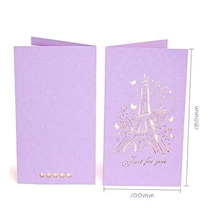 Amazon kofun greeting card with envelope 3d pop up light kofun greeting card with envelope 3d pop up light purple eiffel tower hollow paper graduation m4hsunfo