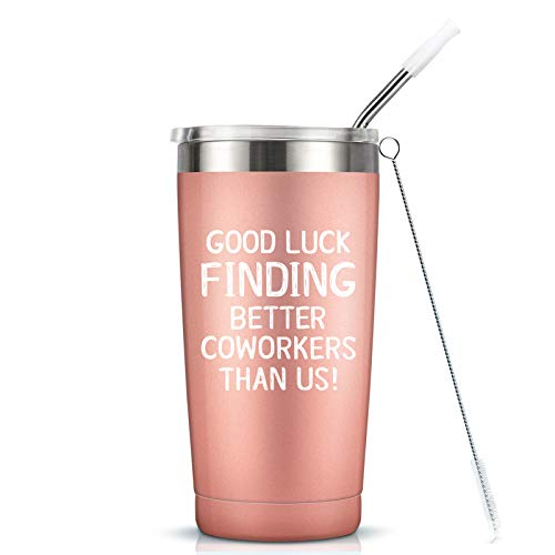 Going Away Gifts for Coworker Women Goodbye, Farewell, Leaving, New Job Promotion Gifts for Colleague Boss Co-worker Friends - Good Luck Finding Better Coworkers Than Us Tumbler Cup Mug, 20-Ounce