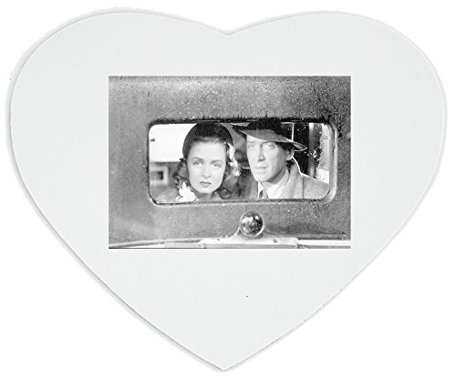 Heartshaped Mousepad with Jimmy Stewart and Donna Reed in the movie It's A Wonderful Life