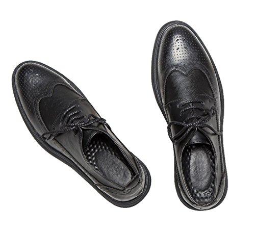 de para Hombre Derby Cordones Crafeel Hombre Oxford Negro Zapatos Cuero 1HnwUnqWP5