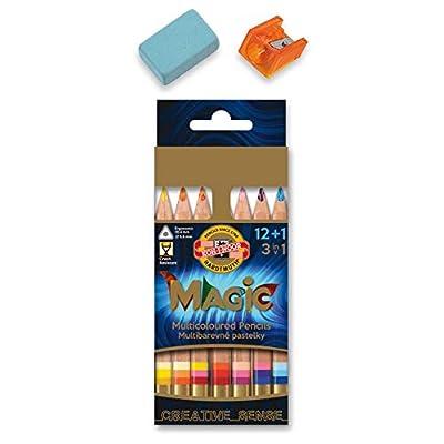 KOH-I-NOOR MAGIC Jumbo Triangular Coloured Pencil (Pack of 15): Arts, Crafts & Sewing
