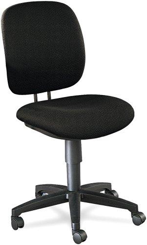 "HON Company Comfortask Task Chair, 23""X28-3/4""X38-1/4"", Blac"