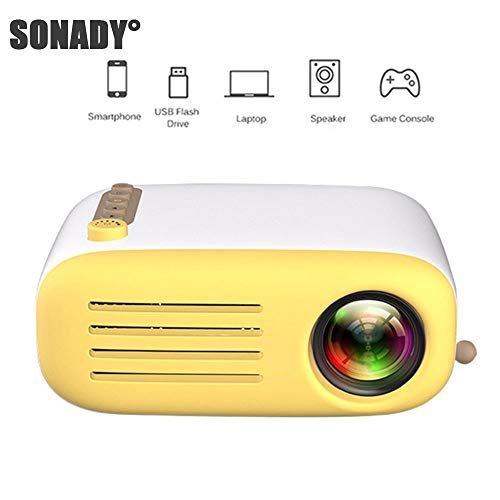 SONADY Mini Projector, Portable LED Home Cinema Theater with PC Laptop USB/SD/AV/HDMI Input Pocket Projector for Video Movie Game Home Entertainment ()
