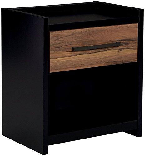 Ashley Furniture Signature Design - Stavani Nightstand - Black/Brown
