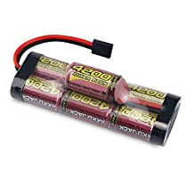 Melasta 8.4V 4200mAh 7-Cell Hump NiMH Battery Pack with Traxxas Discharge Plug for RC Racing Car