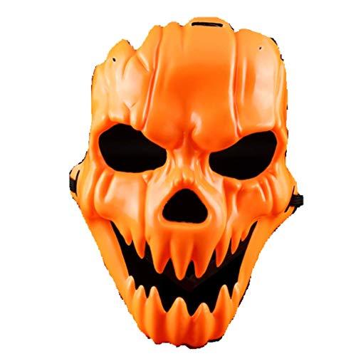 Cosplay Vintage Halloween Costume Terrorist Pumpkin Shape mask Party Decoration Props Orange