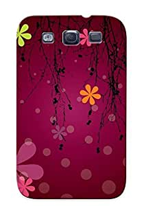 Mooseynmv BroMLxn2436awsWS Case For Galaxy S3 With Nice Dots And Flowers Appearance