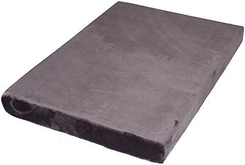 BIRDROCK HOME Memory 3 Memory Dog Bed – Ultra Soft Plush Pet Bed – Pet Mat 40 x 26, Grey