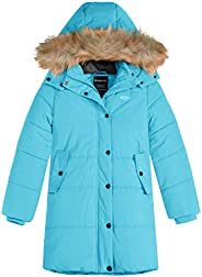 Wantdo Girl's Long Coat Thick Padded Jacket Parka with Fur