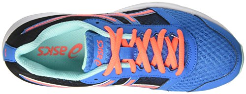 Coral Blue Flash Multicolor Aqua T669N Asics Splash Patriot Women's Shoes Running Diva 8 qgqB8Hwv