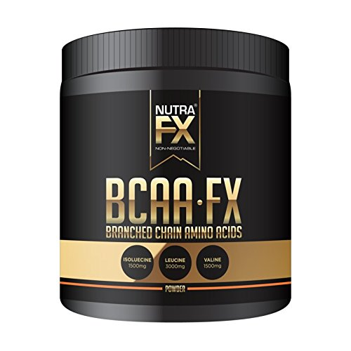 NUTRAFX BCAA Amino Acids Powder 6000 Mg Instant Muscle Soreness Relief Optimal Bodybuilding Ratio (2:1:1) 40 Servings