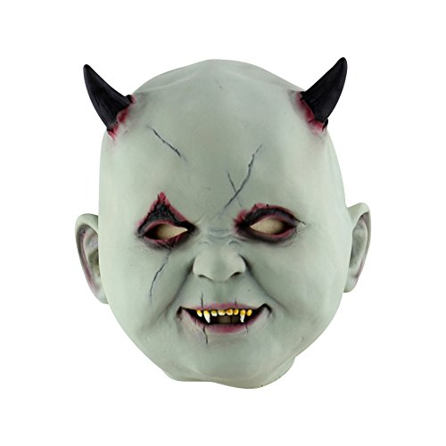 Timall Latex Horror Masks Halloween Costume Head Mask Face Old Man Mask with Hair for Halloween Party for $<!--$13.29-->