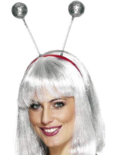Glitter Ball Head Boppers, Silver, One Size -