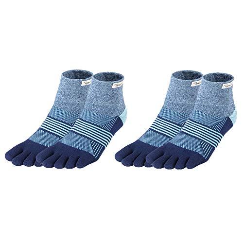 Injinji Women's Performance Trail Midweight Mini-Crew Toesocks Twilight XS/S Bundle (2 Pair) - Injinji Performance Socks