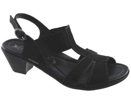 Mephisto-Chaussure Sandale-EGELINA Noir nubuck 6900-Femme 37 FR