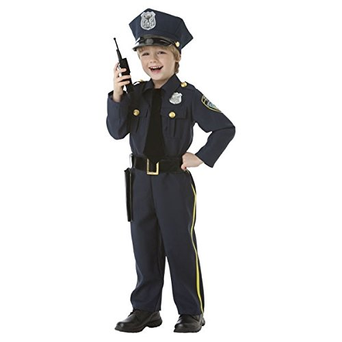 [Amscan Cops and Robbers Party Police Officer Costume (5 Piece), Navy Blue, 17