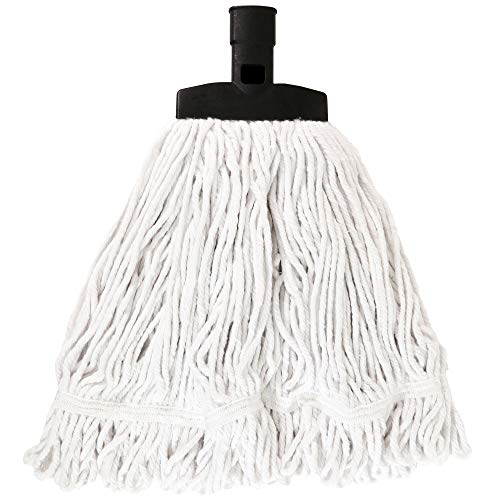 SWOPT Cotton Mop Head - Cotton Mop Head for Use on Wood, Laminate and Tile Floors - Interchangeable with Other SWOPT Products for More Efficient Cleaning and Storage, Mop Head Only, Handle Sold Separa