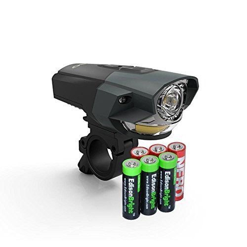 EdisonBright Nebo ARC250 250 lumen LED bike light 6514 with 3 X AA Alkaline batteries bundle