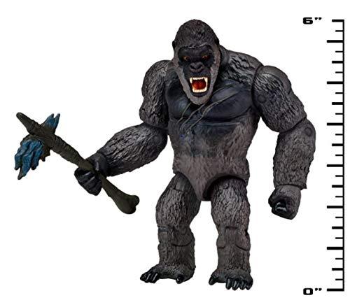 Godzilla vs.Kong 2021 Paquete de 2 figuras de acción de Monsterverse Movie Series de 6 Kong con Battle Axe Godzilla Heat Ray