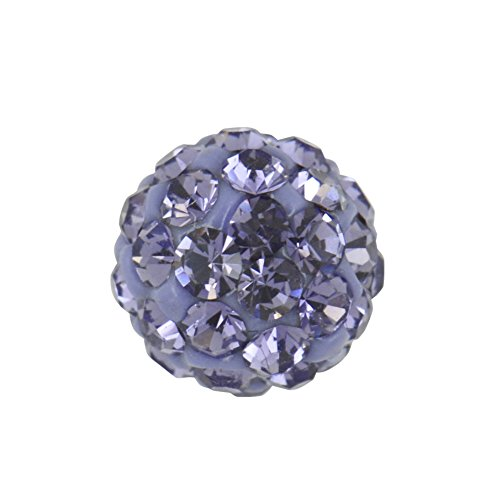 - Studex Sensitive Large 8mm Tanzanite Crystal Fireball Stainless Steel Stud Earrings