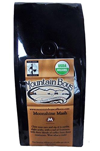 Mountain Boys Air-Roasted Organic Fair Trade Coffee - MOONSHINE MASH - 10 Oz (Ground)