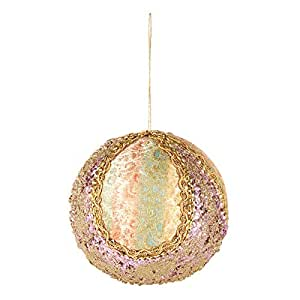 Hanging Golden Ball for Christmas Decoration - Gold