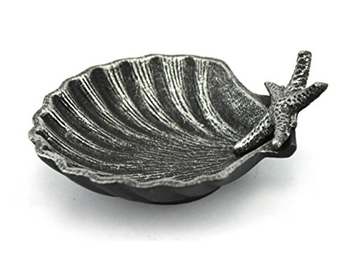 st Iron Shell with Starfish Decorative Bowl, 6
