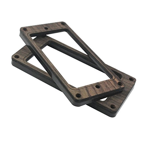 2x Rosewood Humbucker Pickup Ring Mounting Frame Fits Electric Guitar