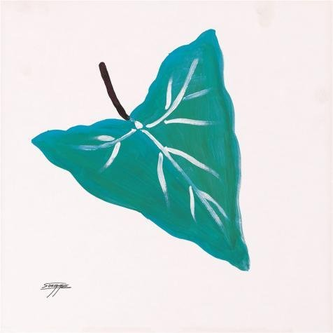 Oil Painting 'Green Leaf', 8 x 8 inch / 20 x 20 cm , on High Definition HD canvas prints is for Gifts And Bath Room, Dining Room And Laundry Room Decoration, prints to ()