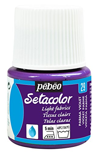 Pebeo Setacolor Light Fabrics Paint 45-Milliliter Bottle, Parma Violet