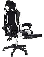 Gaming stoel Bureaustoel Bureaustoel met armleuning Gamer stoel Draaistoel In hoogte verstelbare gaming fauteuil PC stoel Ergonomische directiestoel met voetsteunen 83x60x34cm