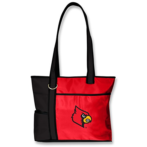 - NCAA Louisville Cardinals Tote Bag with Embroidered Logo