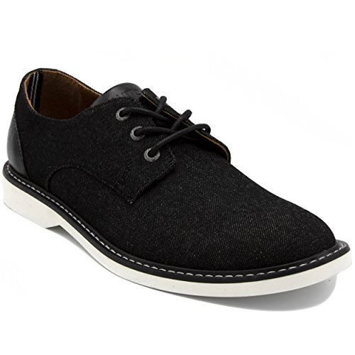 (Nautica Men's Admore Oxford Shoe, Business Casual Fashion Sneaker -Admore-Black-10)