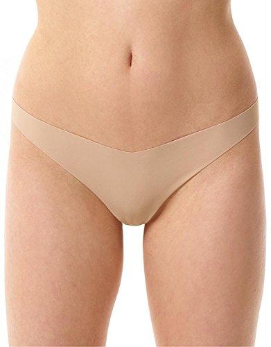(commando Women's Classic Tiny Thong, True Nude, Tan,)