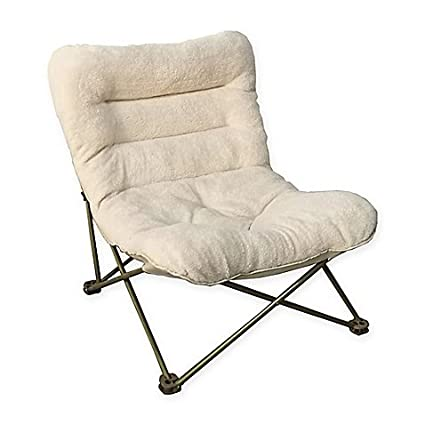 Folding Butterfly Lounger Chairs In Ivory