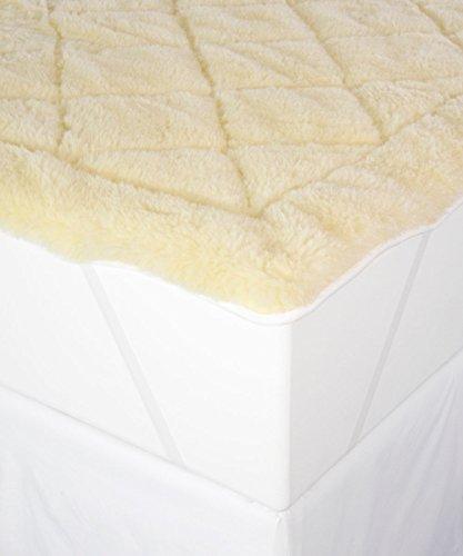 Wool Mattress Pad (Perfect Fit Cool Wool Reversible Mattress Topper, Queen, White)