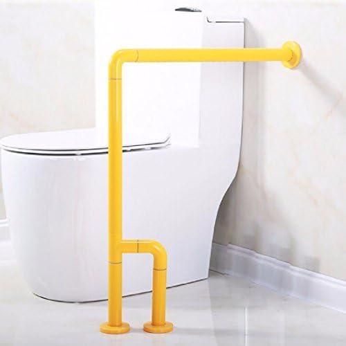浴室用手すり 障害のない滑り止めの手の障害者の老人のトイレのトイレの便器の洗面器のバスタブの手すりの手すり,黄色,80 x 70 CM