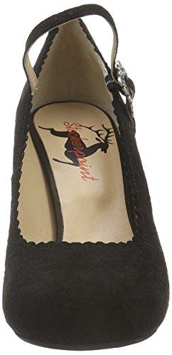 6005 Con De Para Negro Mujer schwarz Schwarz Stockerpoint Punta Cerrada Zapatos Tacón pqxwnOFd7